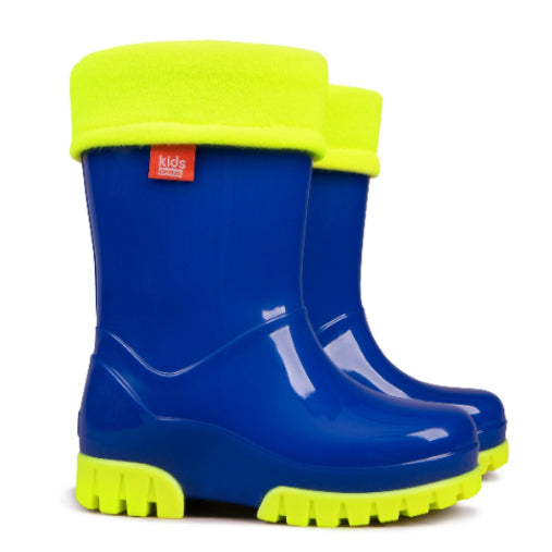 Kids Lined Welly Boots Navy