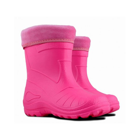 Ultra Lightweight Lined Wellies - Pink