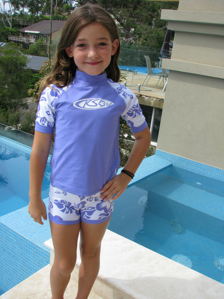 Girls UV Sun Top Lilac