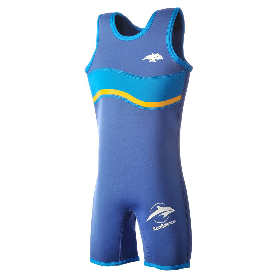 Children's Beach & Pool Warma Wetsuit - Blue Wave