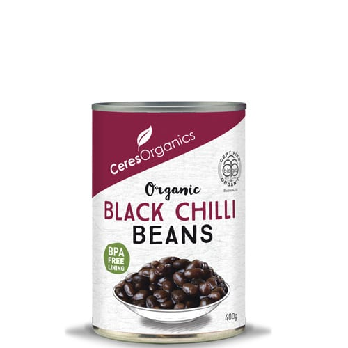 CERES ORGANICS Black Beans in Chilli Sauce 400g (Can)