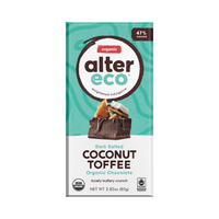 ALTER ECO Chocolate (Organic) Dark Salted Coconut Toffee 80g