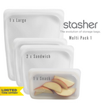 STASHER Reusable Bags Multi Packs - CLEAR