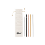CHEEKI Stainless Steel Straws - Straight All Colours + Cleaning Brush 4pk