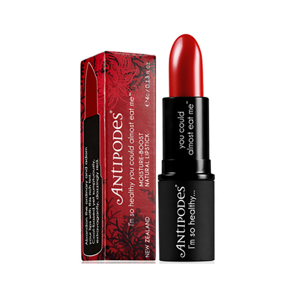 ANTIPODES Organic Moisture-Boost Natural Lipstick Ruby Bay Rouge 4g