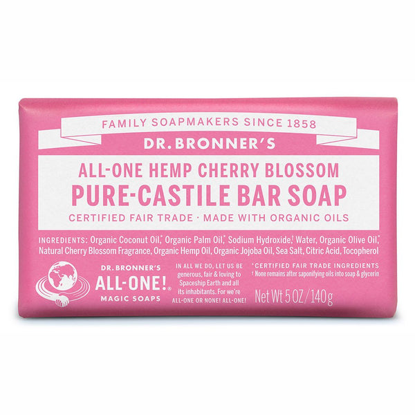 DR BRONNER'S Pure Castle Bar Soap Cherry Blossom 140g