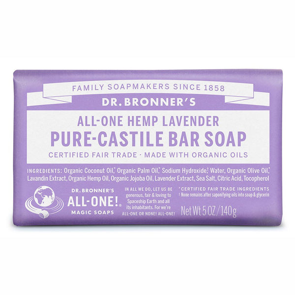 DR BRONNER'S Pure Castle Bar Soap Lavender 140g