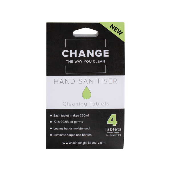 CHANGE Hand Sanitiser Aloe Vera 4 Tablets