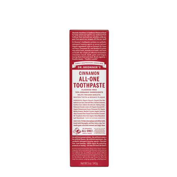 DR BRONNER'S All-One Toothpaste Cinnamon Toothpaste 140g