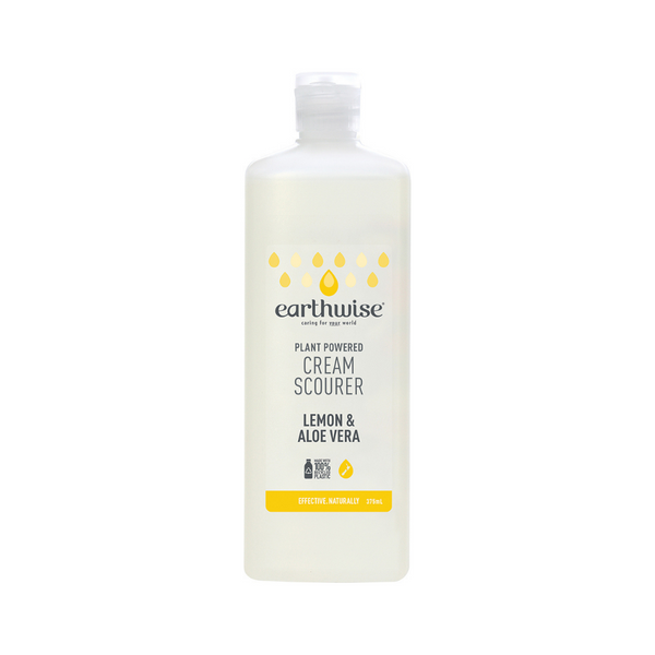 EARTHWISE Cream Scourer Lemon & Aloe Vera 375ml