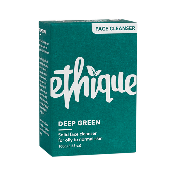ETHIQUE Solid Face Cleanser Bar Deep Green 100g