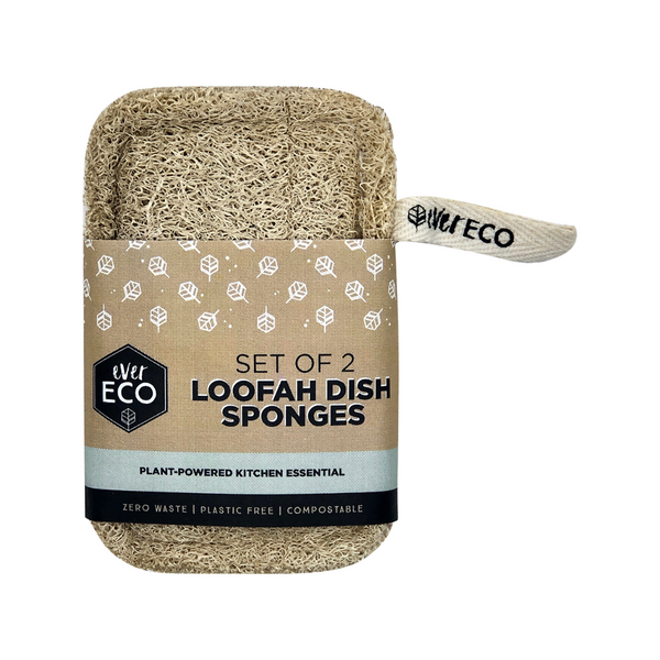 EVER ECO Loofah Dish Sponges Set of 2