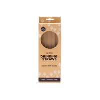 EVER ECO Glass Straws - Straight Includes Cleaning Brush 4