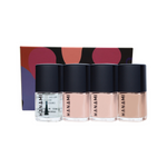 HANAMI Nail Polish Collection Matinee 9ml x4 Pack (lovefool, tiny dancer, peaches, top & base coat)