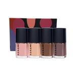 HANAMI Nail Polish Collection Mocha 9ml x 4 Pack (Soft Delay, Dear Prudence, Stormy Weather & Pony)