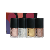 HANAMI Nail Polish Collection Tinsel 9ml x 4 Pk(Dancing Own, Fools Gold, Ritual Union, Technologic)