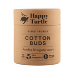 HAPPY TURTLE Organic Cotton & Bamboo Cotton Buds - 200pc Container