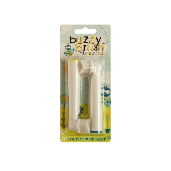JACK N' JILL Replacement Heads Buzzy Brush (Twin Pack) {VERSION 2}