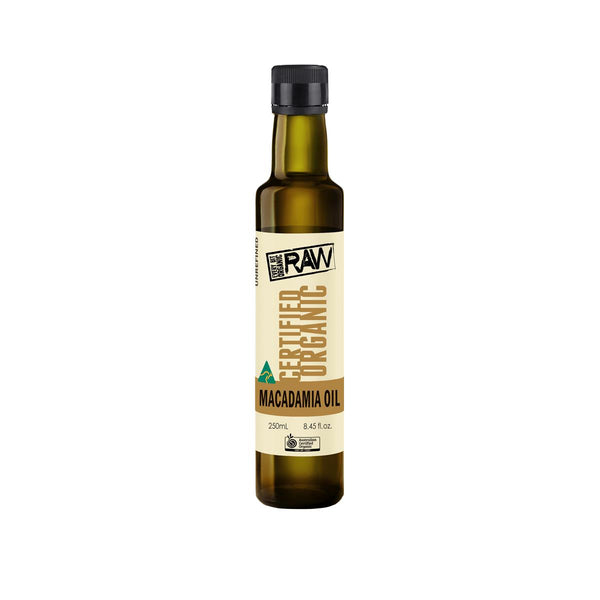 EVERY BIT ORGANIC Macadamia Oil Cold Pressed - Extra Virgin 250ml