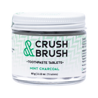 NELSON NATURALS Crush & Brush Toothpaste Tablets 60g - Mint Charcoal