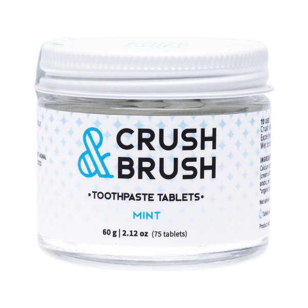 NELSON NATURALS Crush & Brush Toothpaste Tablets 60g - Mint