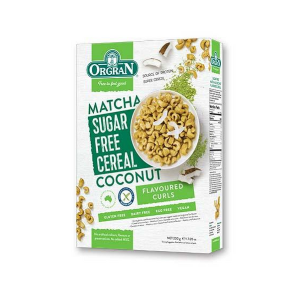 ORGRAN Gluten Free Cereal Matcha & Coconut SF 200g