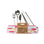 RETROKITCHEN Carry Your Cutlery - Colour Splash Stainless Steel Cutlery Set