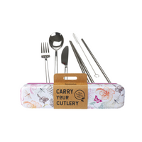 RETROKITCHEN Carry Your Cutlery - Dragonfly Stainless Steel Cutlery Set