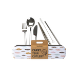 RETROKITCHEN Carry Your Cutlery - Leaves Stainless Steel Cutlery Set