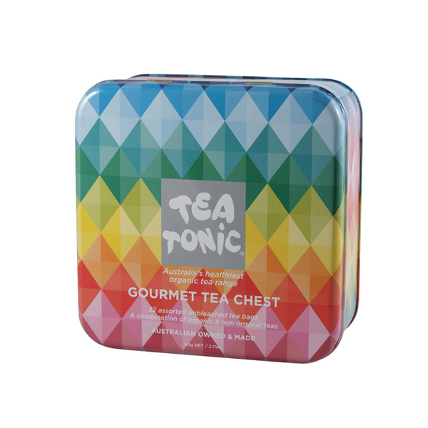 TEA TONIC Tin Tea Chest Mini x 32 Tea Bags
