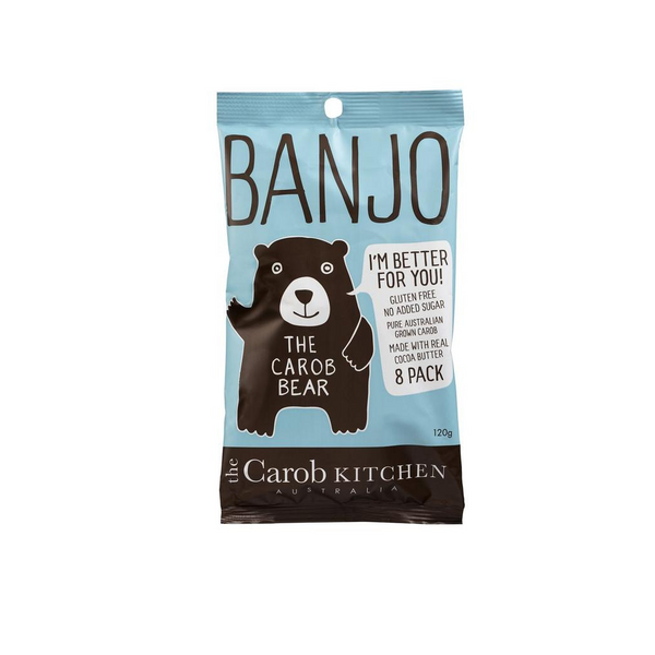 THE CAROB KITCHEN Banjo Bear Milk 8 Pack 120g