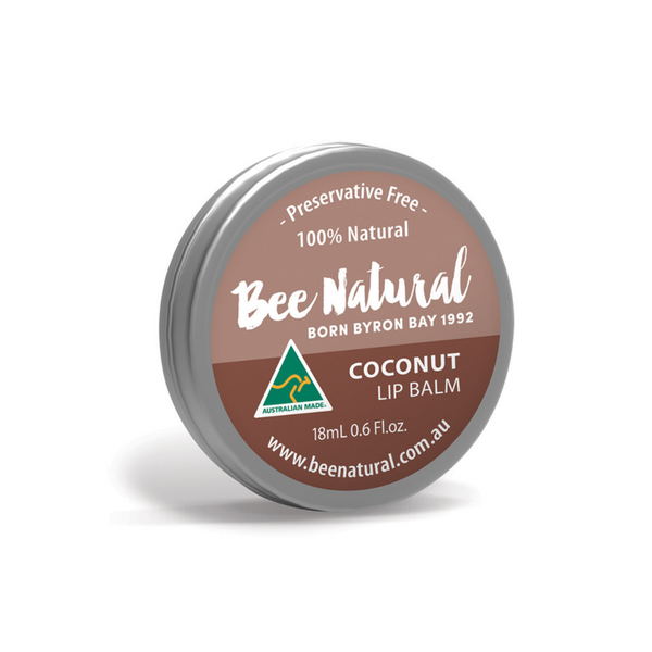 BEE NATURAL Lip Balm Tin Coconut 18ml