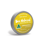 BEE NATURAL Lip Balm Tin Lemon Myrtle 18ml