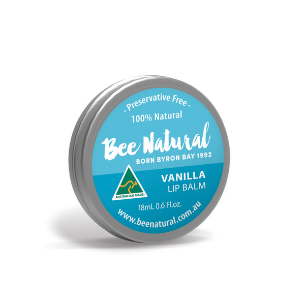 BEE NATURAL Lip Balm Tin Vanilla 18ml