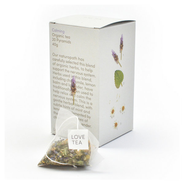 LOVE TEA Organic Calming x 20 Pyramids