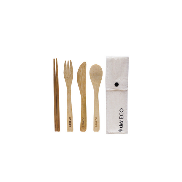 EVER ECO Bamboo Cutlery Set With Chopsticks