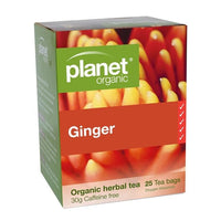 PLANET ORGANIC Herbal Tea Bags Ginger 25