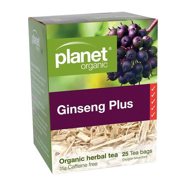 PLANET ORGANIC Herbal Tea Bags Ginseng Plus 25