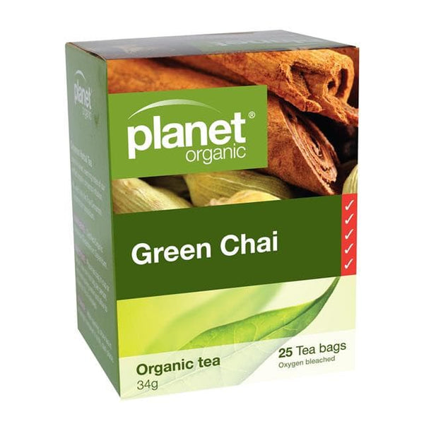 PLANET ORGANIC Herbal Tea Bags Green Chai 25