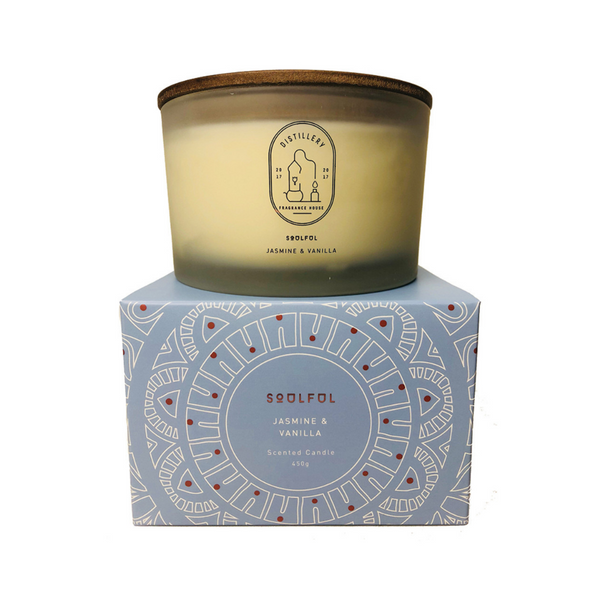 DISTILLERY FRAGRANCE HOUSE Soy candle Soulful Jasmine and Vanilla 450g