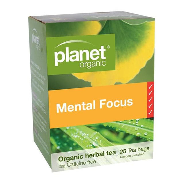 PLANET ORGANIC Herbal Tea Bags Mental Focus 25