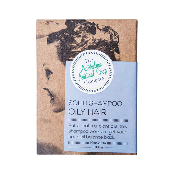 THE AUSTRALIAN NATURAL SOAP CO Solid Shampoo Bar Oily Hair 100g
