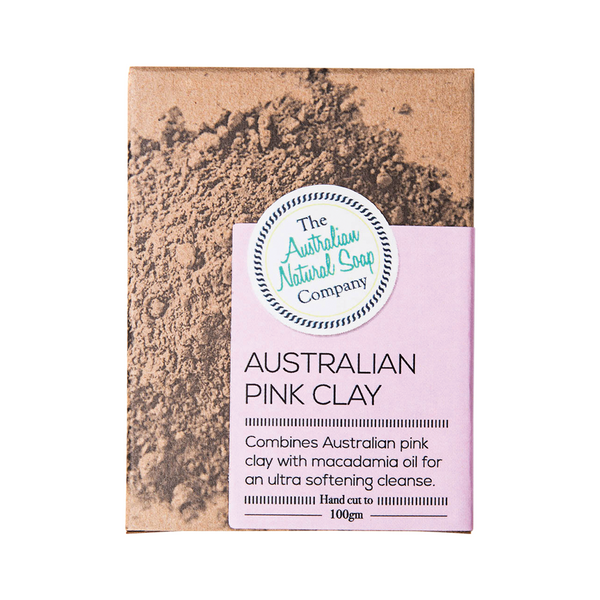 THE AUSTRALIAN NATURAL SOAP CO Australian Pink Clay 100g
