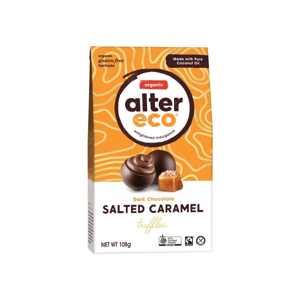 ALTER ECO Chocolate (Organic) Salted Caramel Truffles 108g