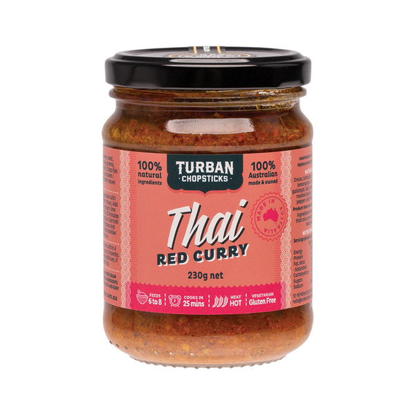 TURBAN CHOPSTICKS Curry Paste Thai Red Curry 230g