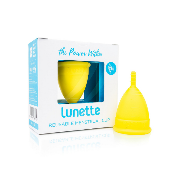 LUNETTE Reusable Menstrual Cup Model 2 - Yellow