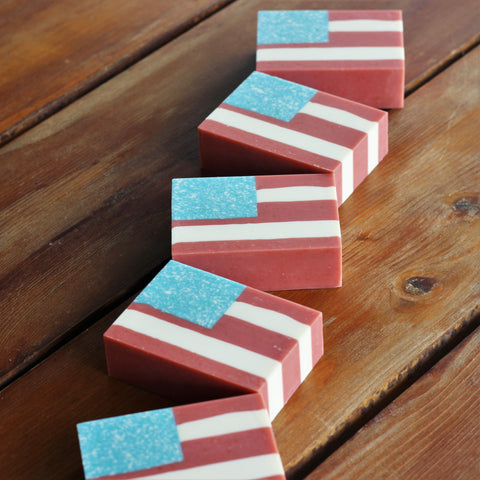 American-United-States-Flag-Handmade-Soap