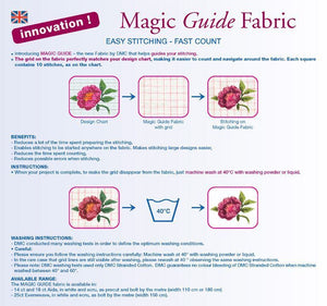 "Aida Magic Guide 18 Count - White 114cm Wide (45"")"