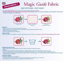 "Load image into Gallery viewer, Aida Magic Guide 14 Count - Ecru 112cm Wide (44"")"