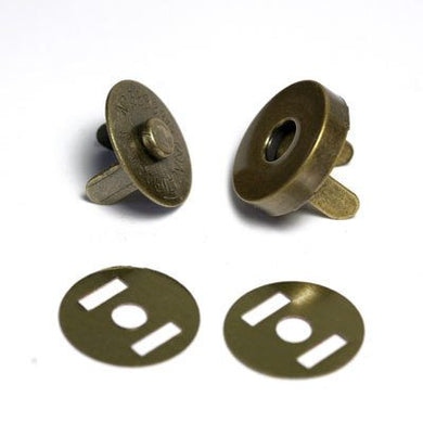 Magnetic Handbag Buttons Large Antique Brass